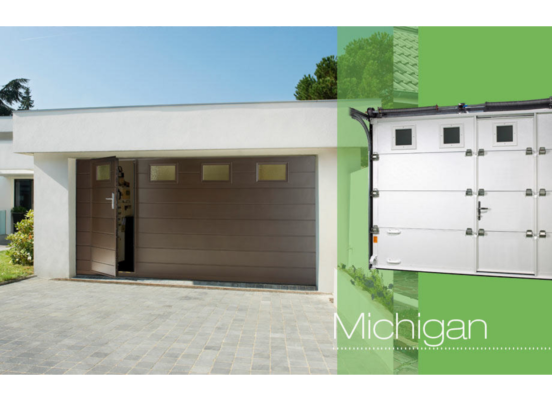 porte de garage sectionnelle oregon lapeyre voiture moto. Black Bedroom Furniture Sets. Home Design Ideas