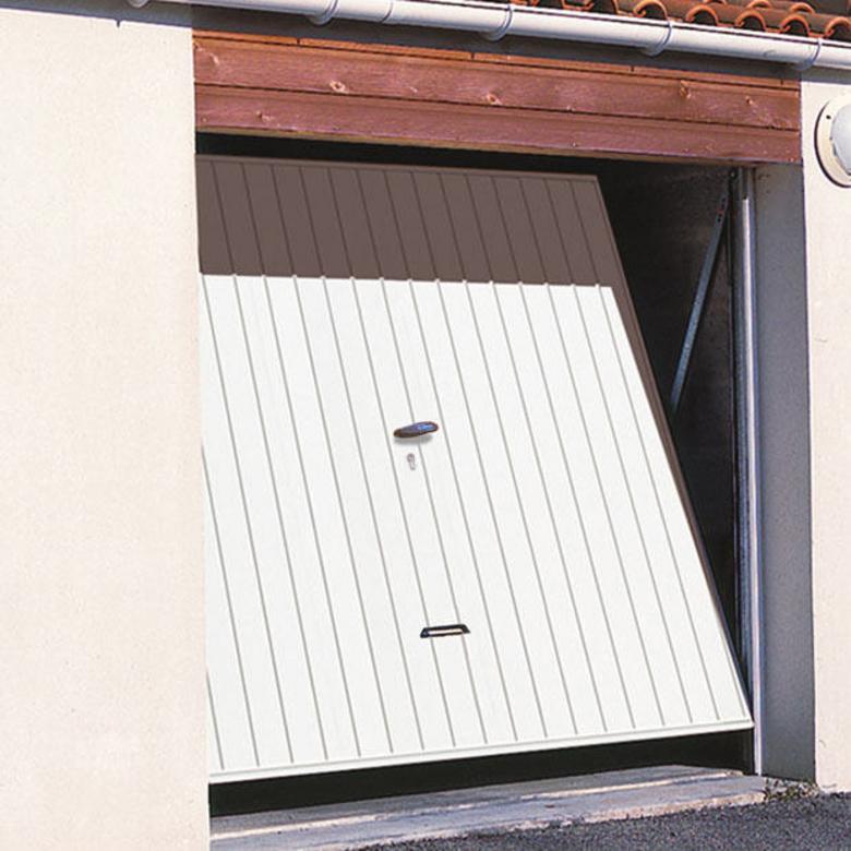 Porte de garage basculante bois