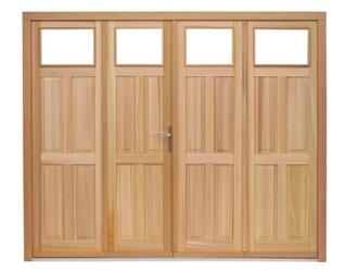 Porte de garage bois 4 vantaux prix