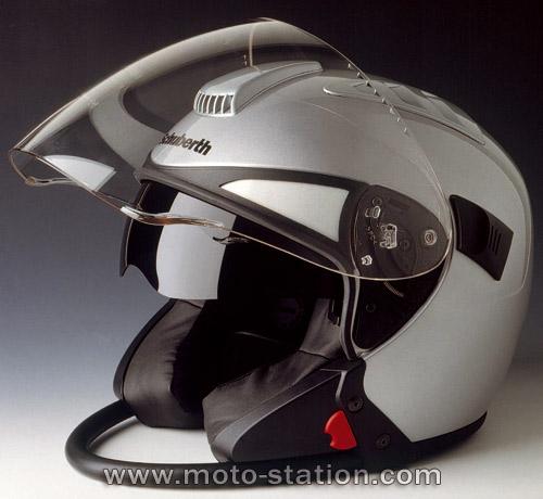 Casque moto integral retro