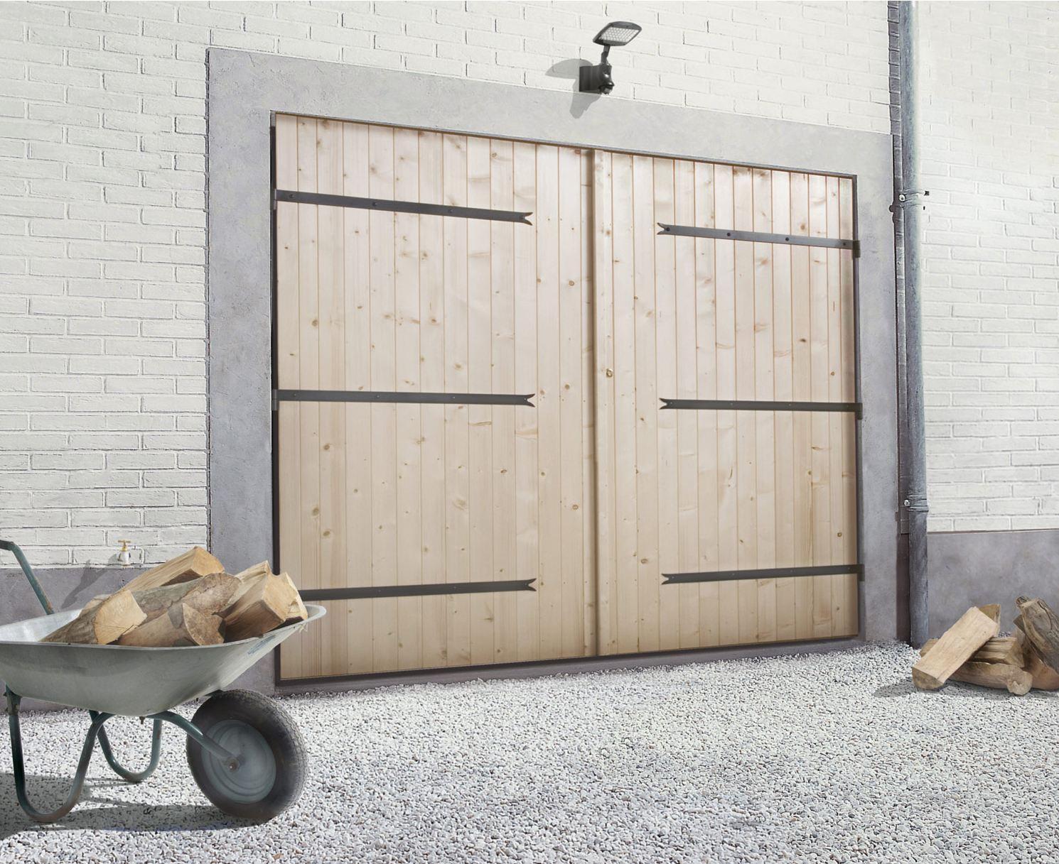 Prix porte de garage en bois coulissante