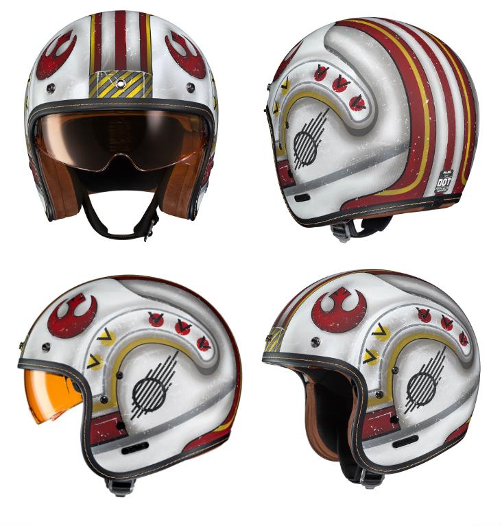 Casque moto style star wars