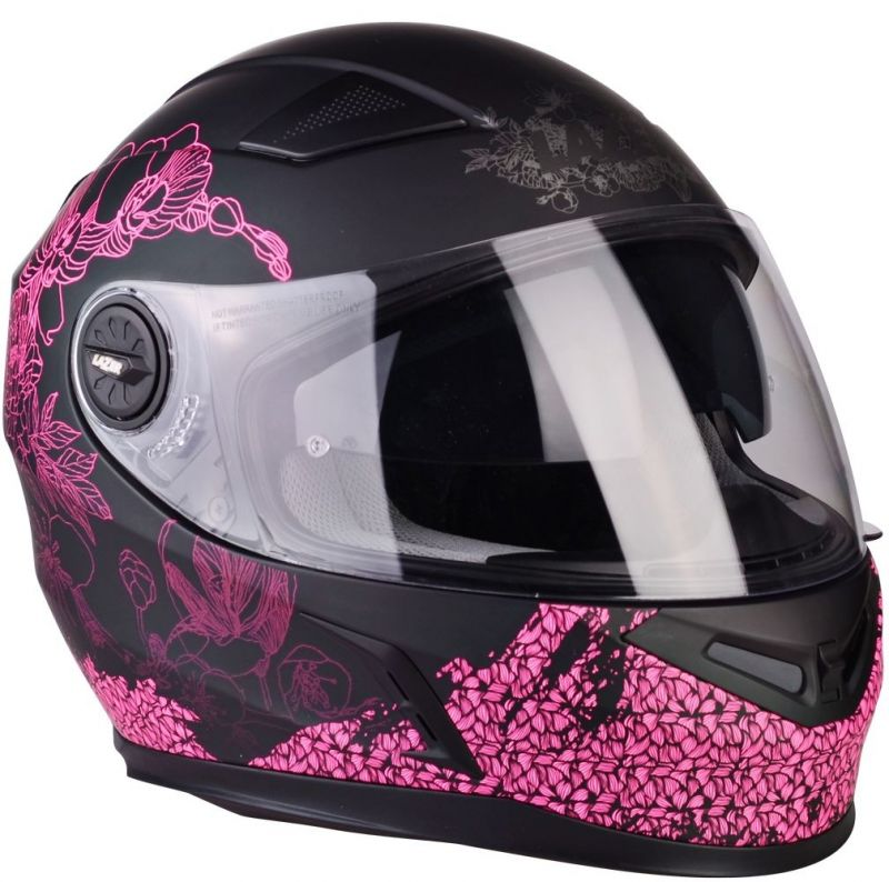 Casque moto integral rose