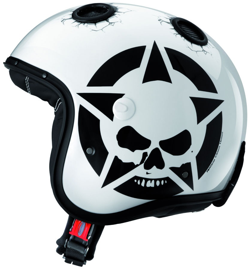 Casque moto jet skull