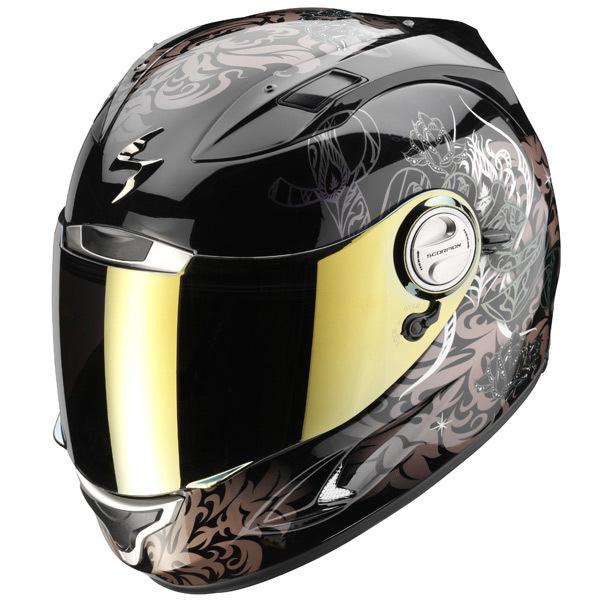 Casque moto femme noir