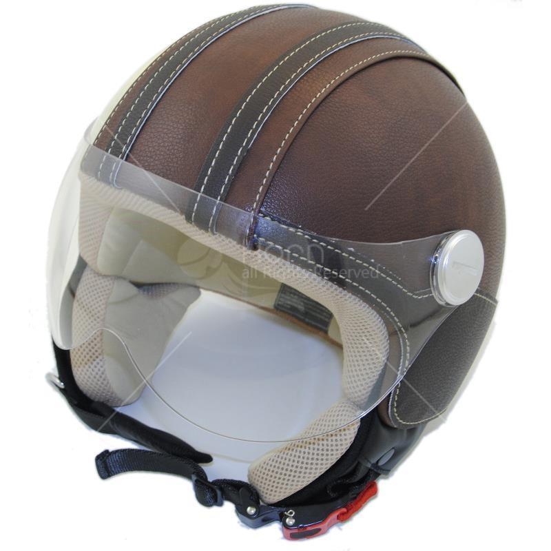 casque moto vintage cuir