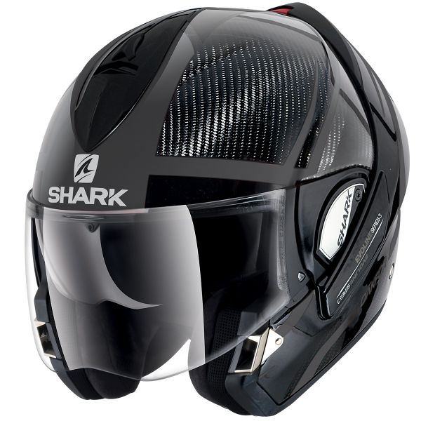 Casque moto modulable carbone