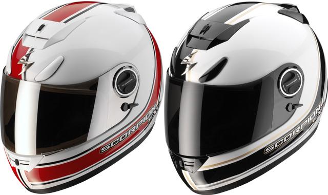 Autocollant casque moto scorpion