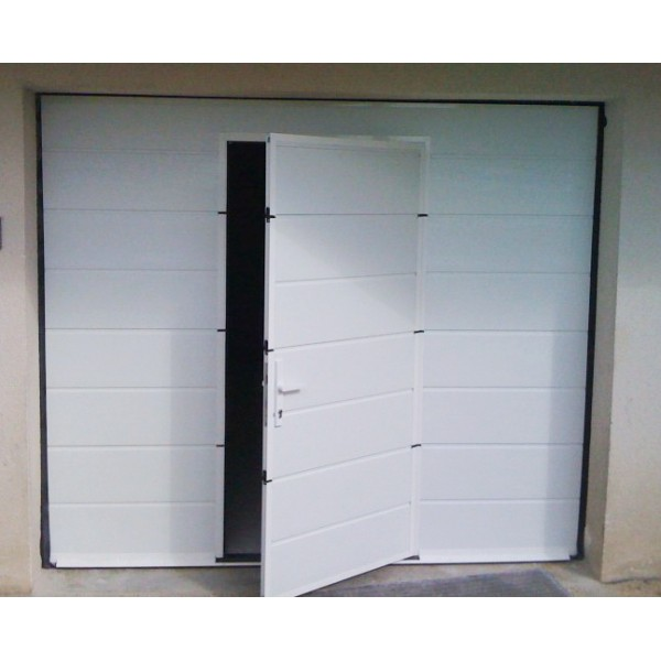 Porte de garage avec portillon integre