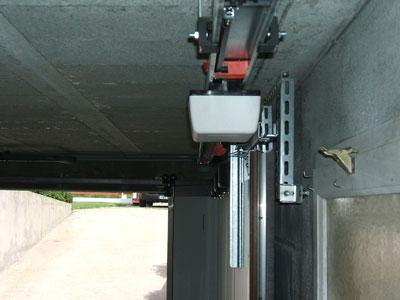 Motorisation porte de garage coulissante latérale
