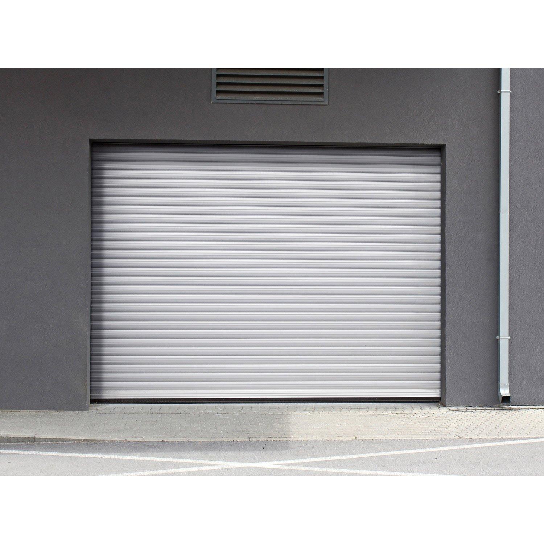 Porte de garage enroulable aluminium kiev 2 blanc