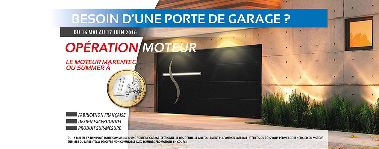 Promo porte de garage sur mesure