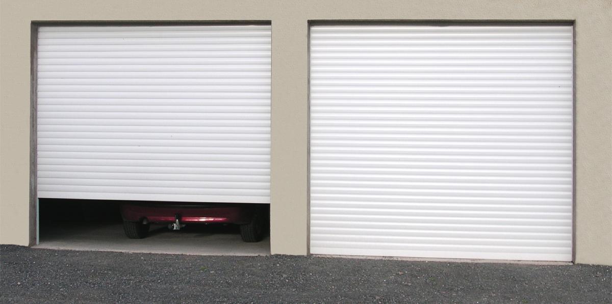 Porte de garage volet roulant aluminium voiture moto et auto - Porte de garage enroulable aluminium ...