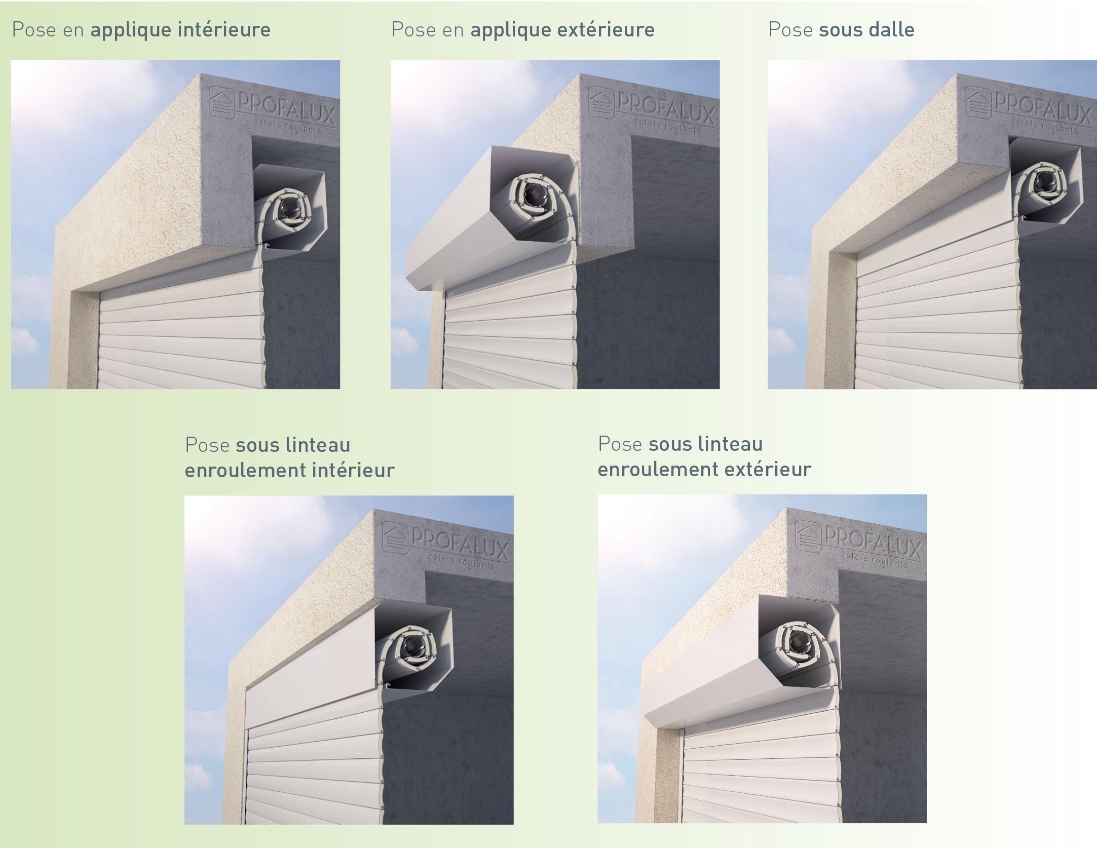 Porte de garage enroulable applique exterieur voiture moto et auto